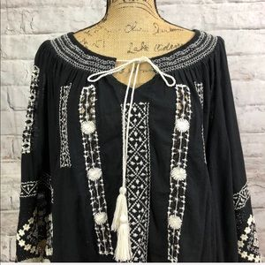 Free People Tops - Free People BOHO Festival Ready Embroidered Blouse